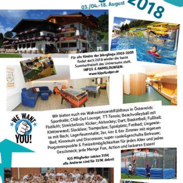 Sommerfreizeit 2018 in Österreich